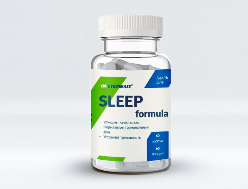 Sleep Formula растительный комплекс для улучшения сна и релаксации 60 капсул